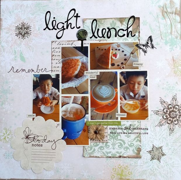 Light lunch scrapbook page