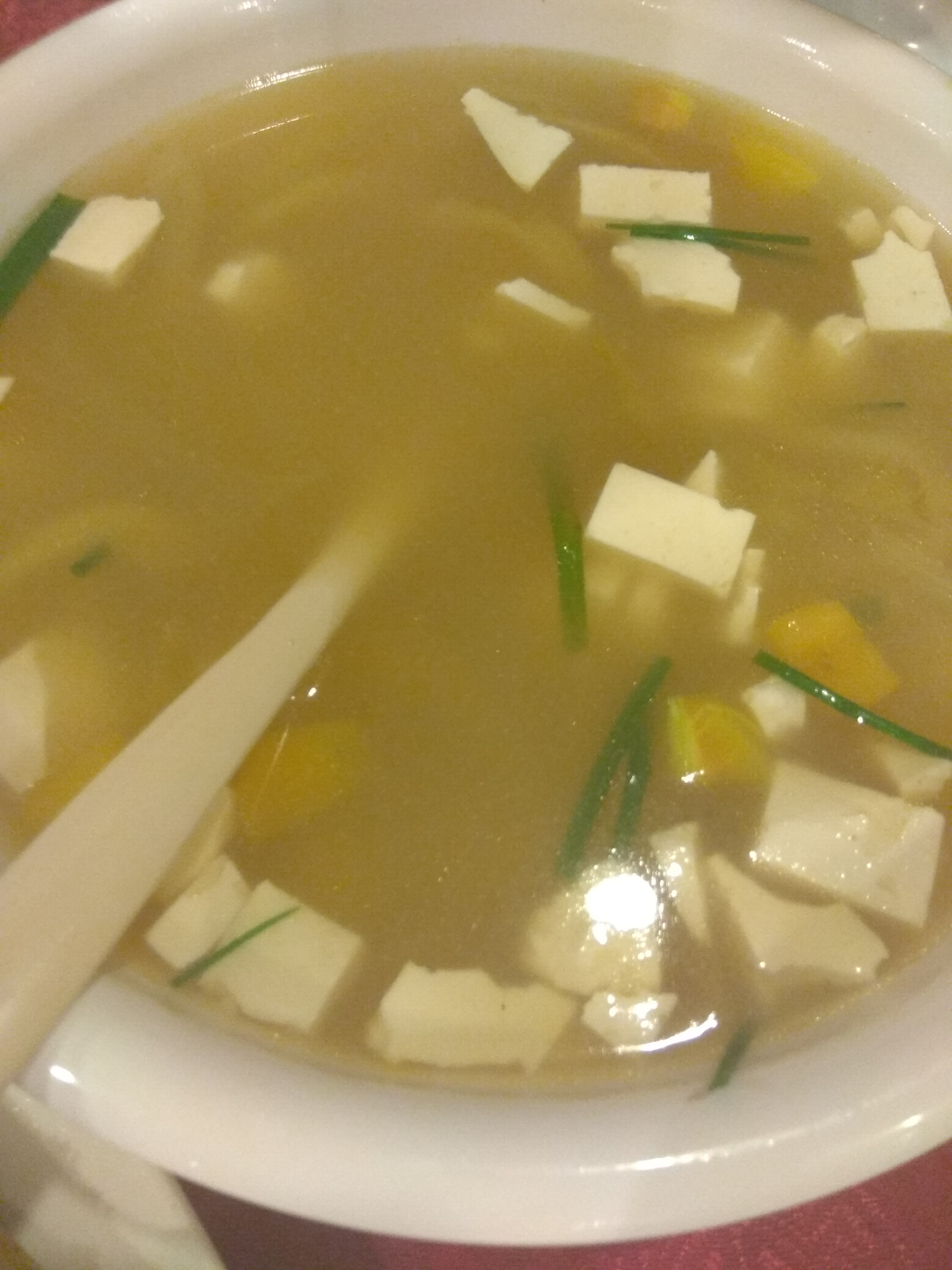 tofu with salted veggie soup